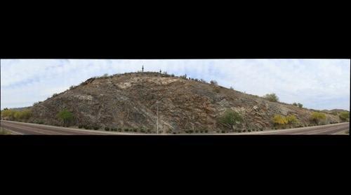 Phoenix, AZ - Rock Cut on Liberty Lane near the Southern Edge of Ahwatukee.