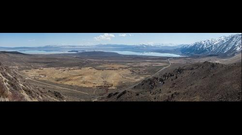 Looking down to Mono Lake on Calif Hwy 395