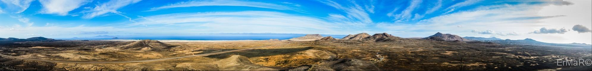 volcanic landscapes in Fuerteventura (Canary Islands)