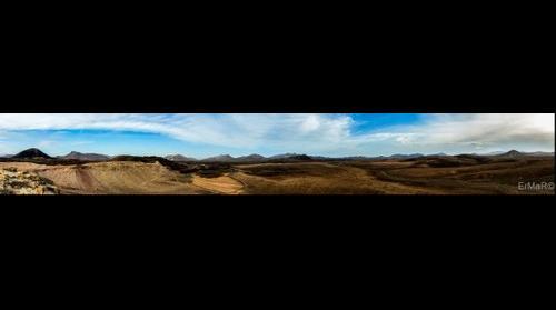 Volcanics landscapes in Tiscamanita (Fuerteventura)