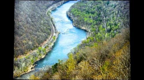 Grandview North Overlook: The New River