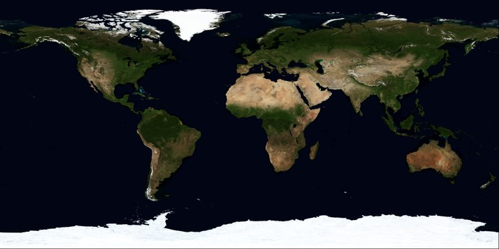 Earth Terrain Map