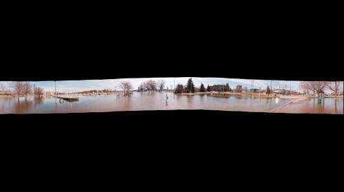Flooding at Little Lake 360 Panorama
