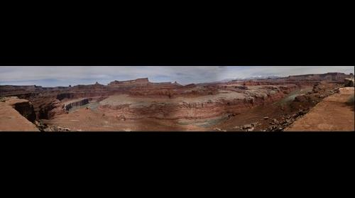 Colorado River as viewed from White Rim Trail, Canyonlands NP, Utah