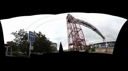 Pano esférica del puente de Portugalete (6 imgs - 95 mgpx)