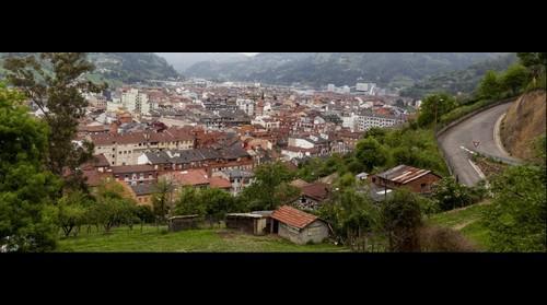 Vista parcial de Mieres desde el Cantiquín.