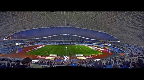 Estadio de Anoeta minutos antes de empezar el partido