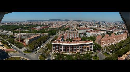 Vista de Barcelona desde las oficinas de Adobe en la torre Mapfre