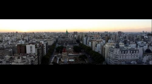 Buenos Aires Sunset Panorama