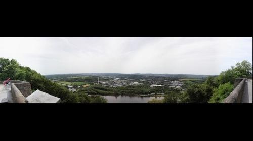 Blick vom Kaiser-Wilhelm-Denkmal Hohensyburg über das Hagener Ruhrtal