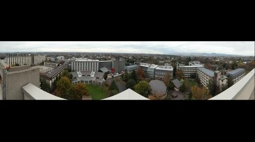 University of Canterbury View From The Roof Of The Library