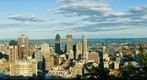 City of Montreal, Quebec, Canada seen from Mount-Royal 20 august 2008 around 7:00 PM