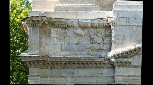 Triumphal Arch of Orange, Panel Four from Ground Position