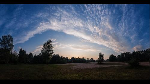 Bursting clouds