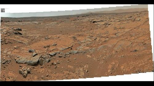 MSL Curiosity @Yellowknife Bay area in Gale crater, Mars - Sol 186-188 remade Pano with PDS data