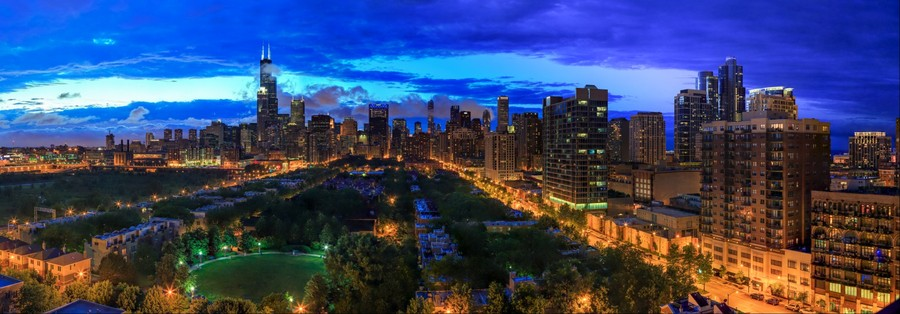 Chicago Skyline | June 21, 2014 from 9:00pm to 9:07pm