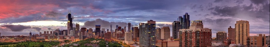 Chicago Skyline | June 21, 2014 from 8:37pm to 8:40pm