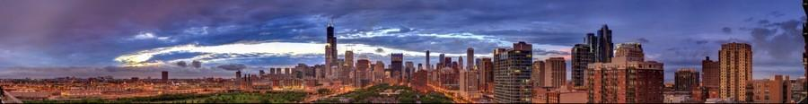 Chicago Skyline | June 21, 2014 from 8:41pm to 8:45pm
