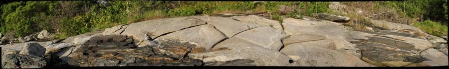 Granite exposed along the shore of Cabbage Island, Maine