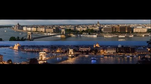 Budapest by day and at night
