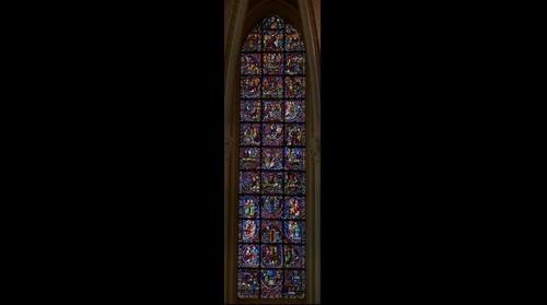 Vitrail de Chartres: Histoire des Apôtres