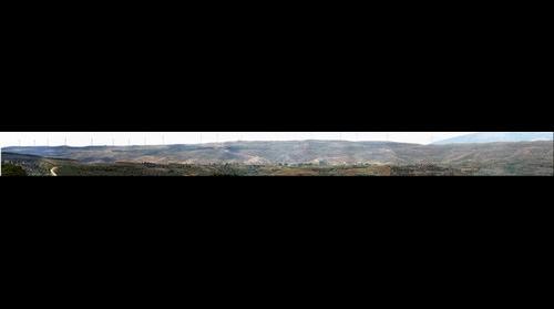 Panorámica de la Diezma, barrera que separa el Moncayo de la depresión del Ebro