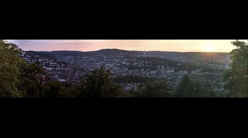 Sunset over Stuttgart