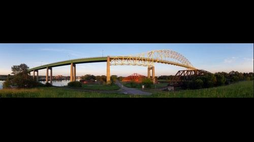 Sault Ste Marie bridge (north span, west side)