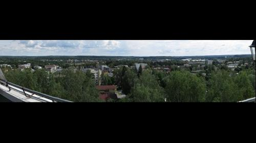 Town of Riihimäki seen from Vesilinna water tower