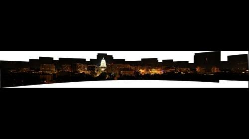 Wisconsin Capitol Night Giga Panoramic