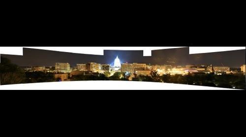 Wisconsin State Capitol Skylkne Panoramic