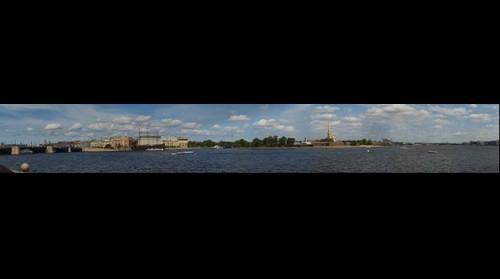 Санкт-Петербург. Вид на Неву со стрелки Васильевского острова. St. Petersburg. View of the Neva with the arrow of Vasilevsky Island