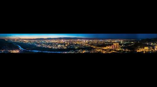 Ulaanbaatar night panorama