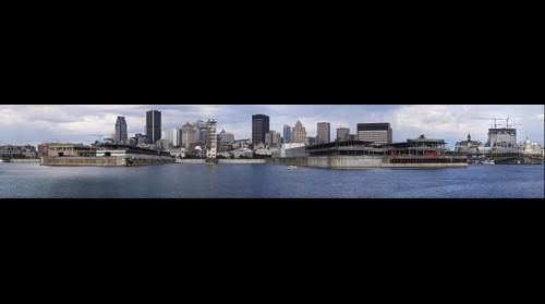 Montréal vue de la Cité du Havre, panorama #1