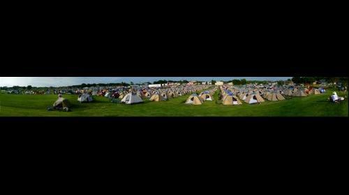 RAGBRAI 2014 Okoboji, Iowa campsite