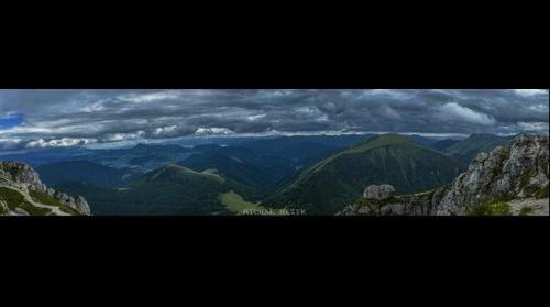 Panorama from Veľký Rozsutec
