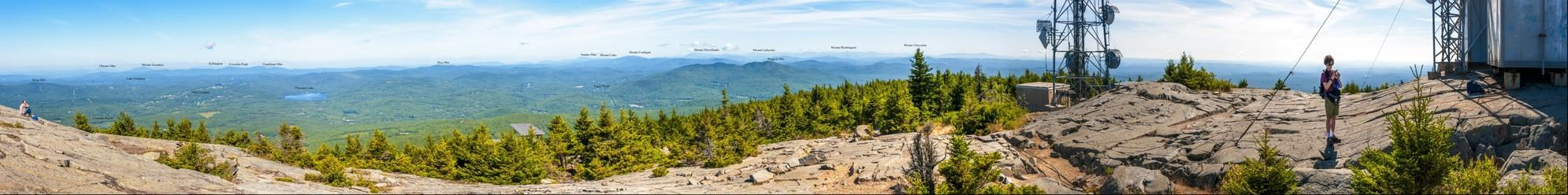 NH & VT Mountains from Mount Kearsarge