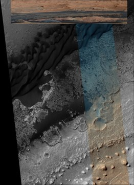 Mount Sharp trench - exposed unusual fluvial geometries
