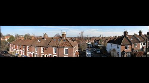 a rooftop view of Norwich
