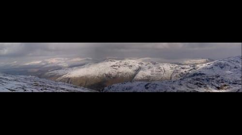 Snowy fells - lake district - uk