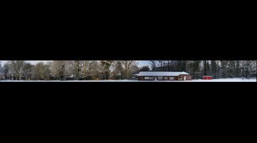 Fleet Cricket Club in snow