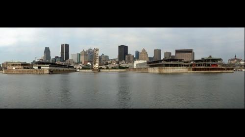 Vieux port de Montréal vu de la Cité du Havre