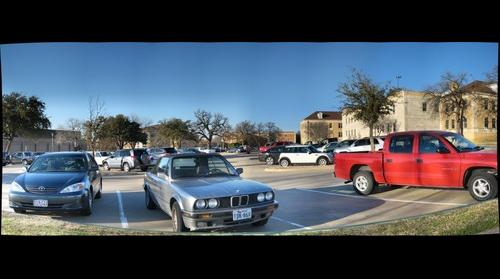 Smaller version of the UNT - Chilton Hall parking lot