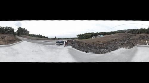 Landslide place in Izu-Oshima Island