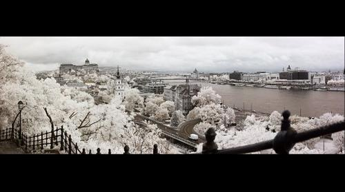 Budapest from Gellert Hill in Infrared