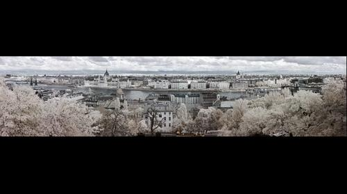 Budapest from Fisherman's Bastion in Infrared