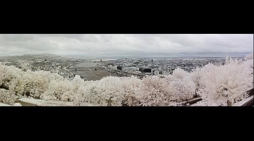 Budapest from Gellert Hill Citadel in Infrared