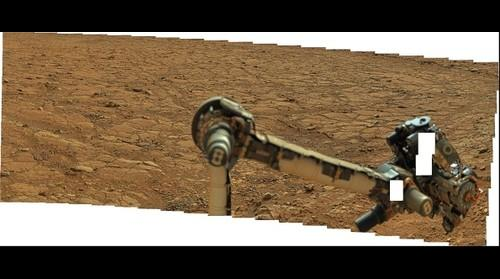 MSL Curiosity @Yellowknife Bay area in Gale crater, Mars - Sol 184 remade Pano with PDS data