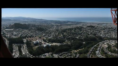 San Francisco From Sutro Tower - Looking Southwest #2