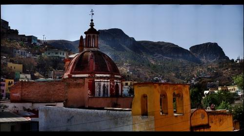 La Bufa with Templo San Sebastian in Foreground, Guanajuato, GTO  Mexico - Take 2